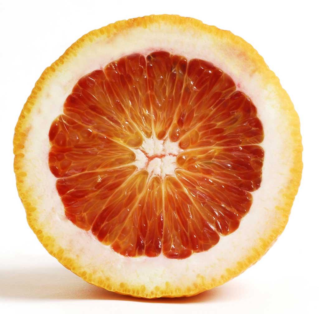close up of orange slice