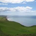 view of sea from clifftop