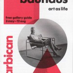 Cover of the gallery guide to the bauhaus art as life exhibition at the Barbican
