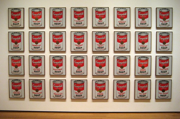 andy warhol's campbells soup cans