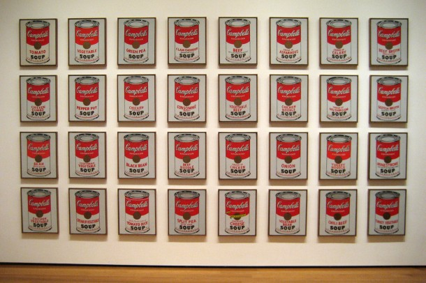 andy warhol's paintings of campbell's soup cans