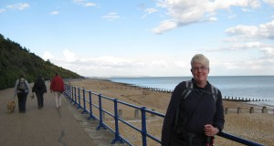 angie macdonald arrives in eastbourne after walking the south downs way