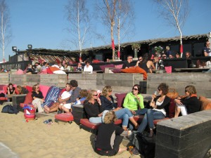 beach cafe at scheveningen