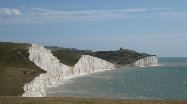 the seven sisters chalk cliffs on the south downs way