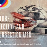 poster for doctors, dissection and resurrection men exhibition at the museum of london
