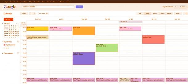 google calendar showing reminders to take HRT