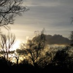 Winter sunset in Dulwich Park