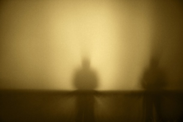 foggy silhouette to illustrate impaired cognitive function with a cold
