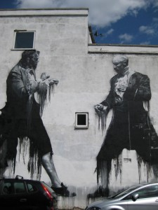 Street art in East Dulwich side street