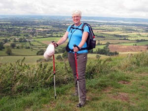 Angie Macdonald on the Cotswold Way