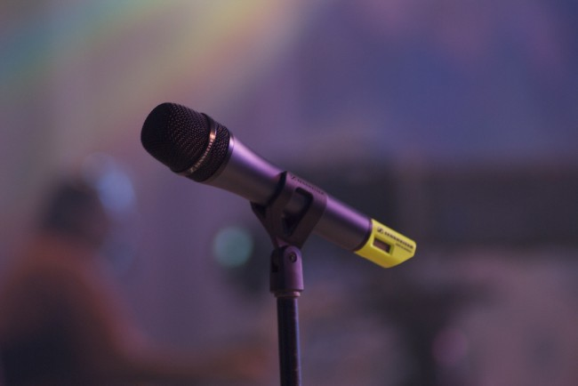 Close up of microphone to illustrate fear of public speaking