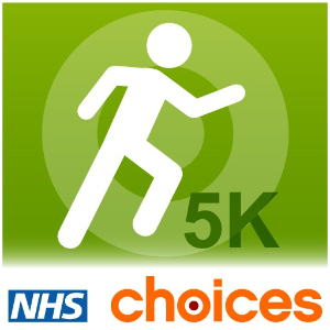 Logo for the NHS Couch to 5K podcast.