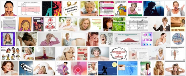 Screenshot of web images of menopause