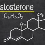 Chemical formula for testosterone written on a blackboard